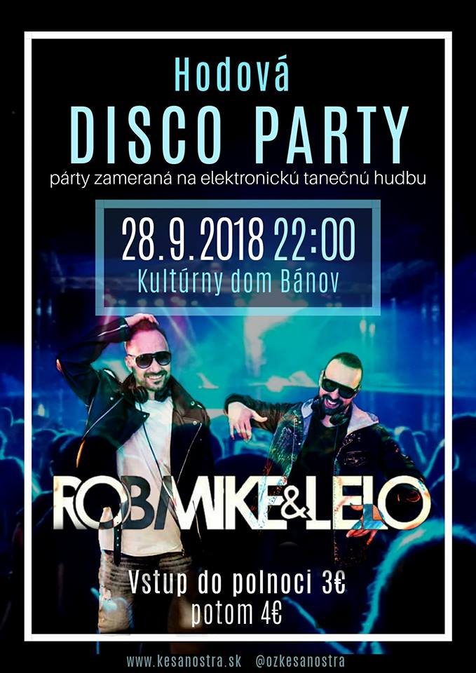 HODOVÁ DISCO PARTY